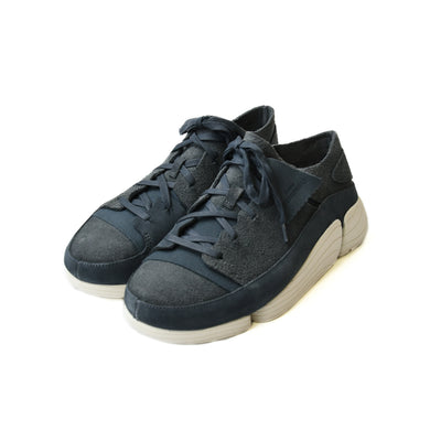 CLARKS Trigenic Evo Mens Blue Suede Athletic Lace Up Training Shoe 26135717