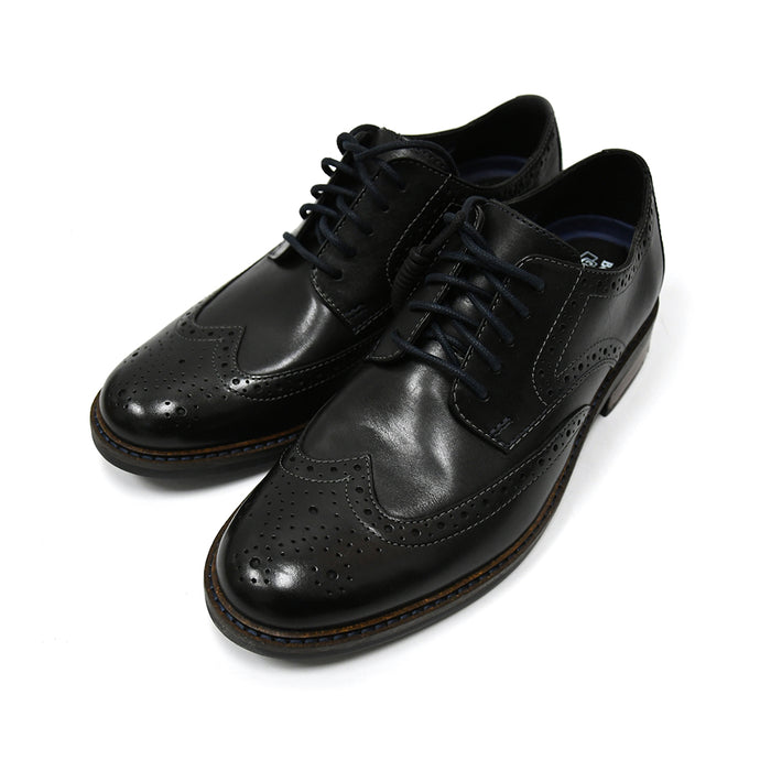 Clarks Bostonian Maxton Wing Black Leather Men's Oxfords 26136622