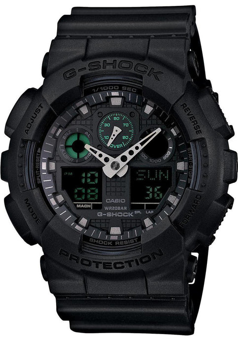 G-SHOCK GA-110MB-1ACR CLASSIC X-LARGE MATTE BLACK GREEN DIGITAL