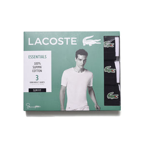 Lacoste Men's 3 Pack Slim Fit Cotton Crew Neck Tee RAM8703
