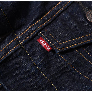 LEVIS SHERPA TRUCKERS DENIM JACKET - Dark Blue - Rinse 70598-0027