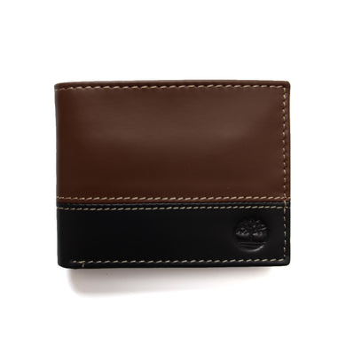 Timberland Men's Hunter Leather Passcase Wallet Trifold Wallet Hybrid D87242