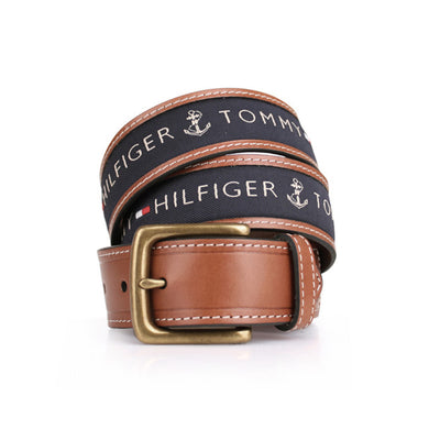 Tommy Hilfiger Men's Ribbon Inlay Belt 11TL02X032