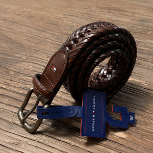 Tommy Hilfiger Men's Braided Belt 11TL04X007