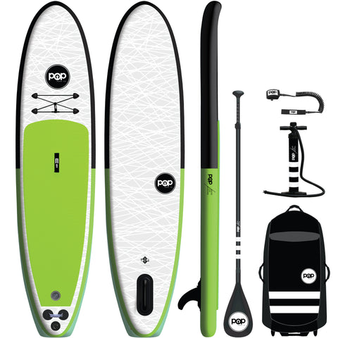 11' Green/Black Inflatable Paddleboard-ISUP