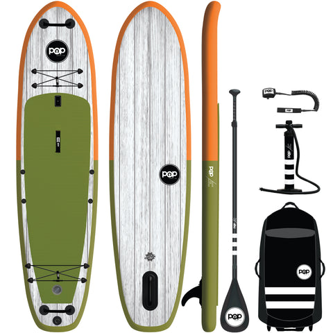 "11'6 x 36"" El Capitan Green/Orange Inflatable Paddleboard-ISUP"