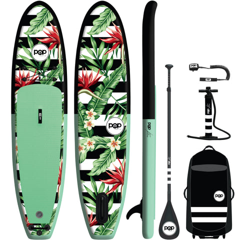 10'6 Royal Hawaiian Mint/Black Inflatable Paddleboard-ISUP
