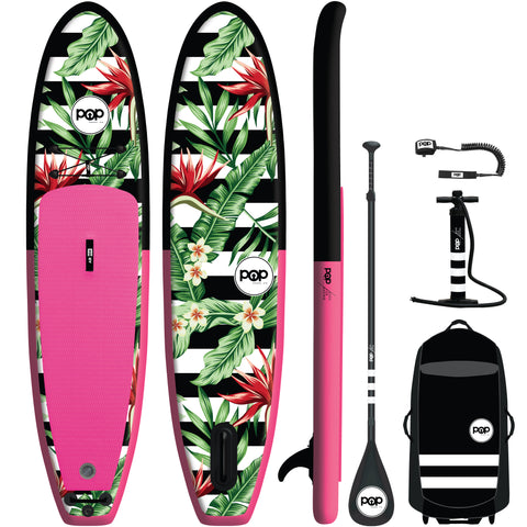 10'6 Royal Hawaiian Pink/Black Inflatable Paddleboard-ISUP