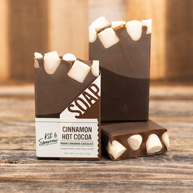 Cinnamon Hot Cocoa Handmade Goat Milk Soap