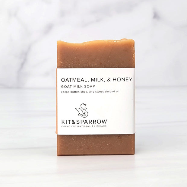 Oatmeal Milk and Honey Handmade Goat Milk Soap