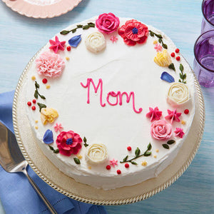 Birthday Cake For Mom.Vanila Cake For Mom