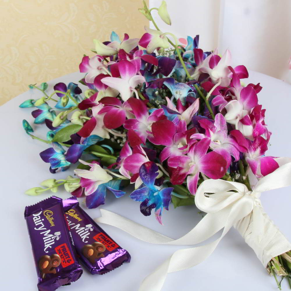 Orchids and Chocolates Bouquet