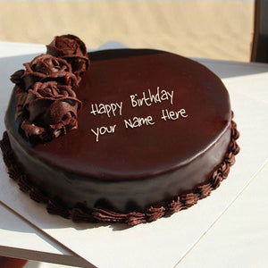 Birthday Eggless Chocolate Cake