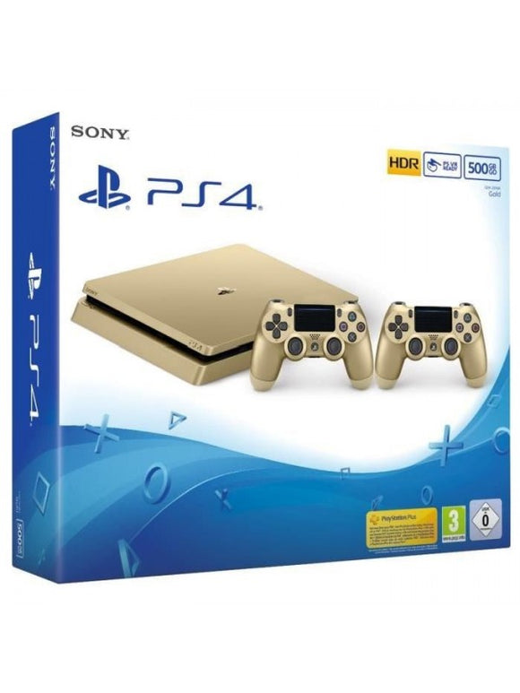 PS4 Slim Gold 500 Go + 2e Manette DualShock 4 Gold + fifa 18