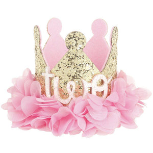 Girls birthday crown headband - TWO YEARS