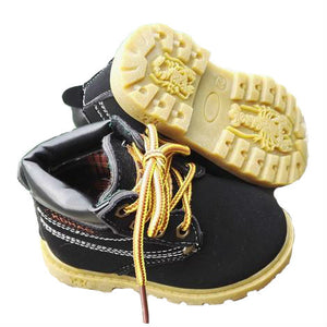 Lace up work boots - BLACK (1-6YRS)