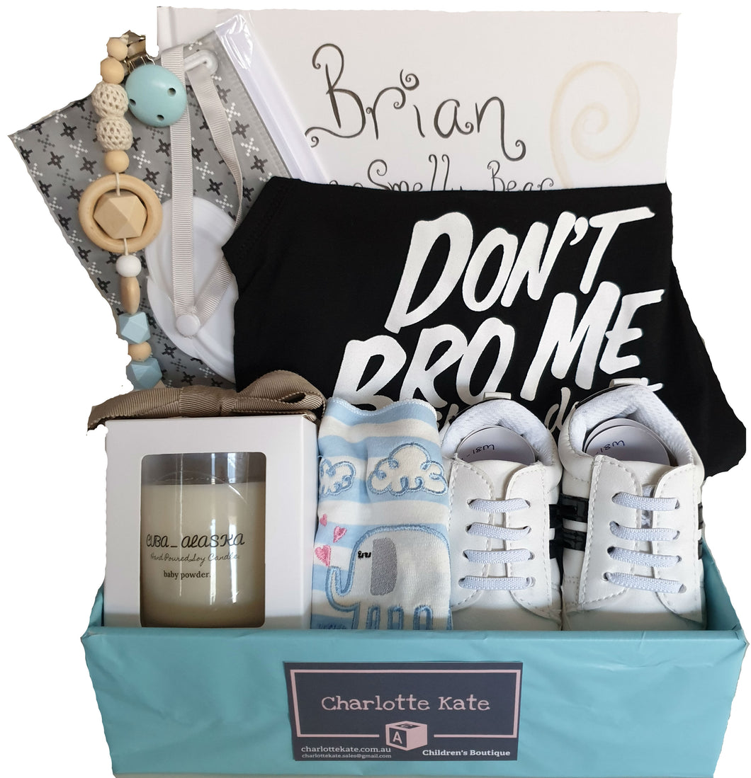 Baby Hamper - Boys 'Don't Bro Me'