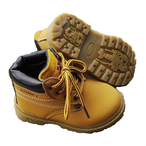 Lace up work boots - MUSTARD (1-6YRS)