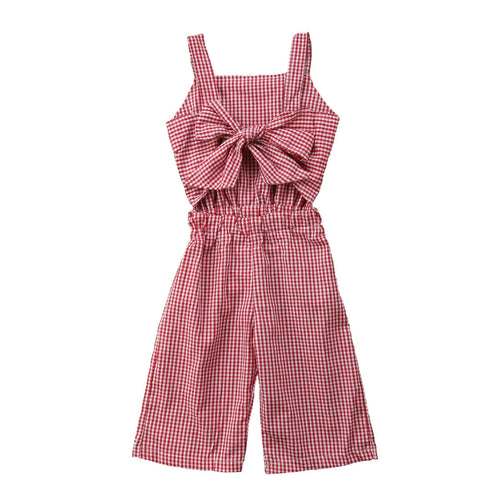 Girls wide leg summer jumpsuit