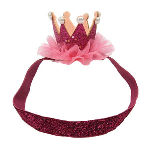 Girls crown princess headband - ROSE PINK