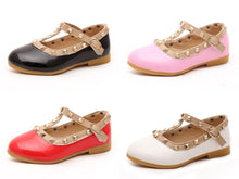 Load image into Gallery viewer, Fashion stud flats - 4 COLOURS (1-5YRS)