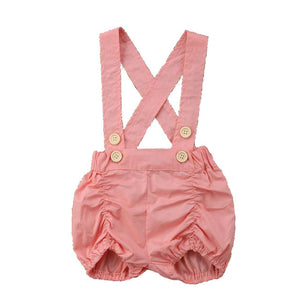 Summer button style overalls (SIZE 3-6M)
