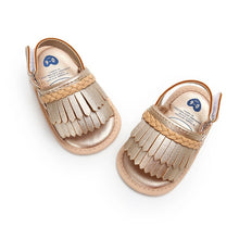 Load image into Gallery viewer, Girls summer tassel sandals - 3 COLOURS (0-18M)