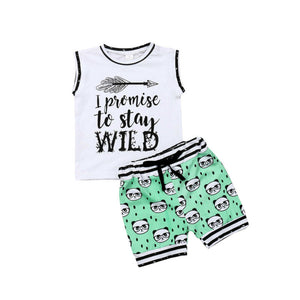I Promise To Stay Wild 2pc outfit