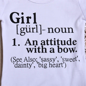 GIRL: An Attitude With A Bow 2pc outfit