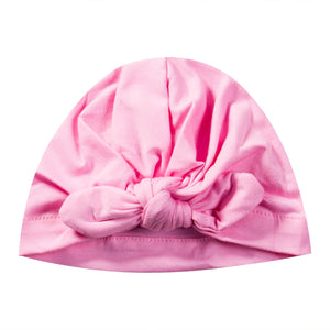 Baby girls bowknot beanie - 3 COLOURS
