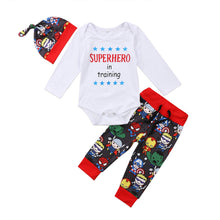 Load image into Gallery viewer, Superhero In Training 3pc outfit