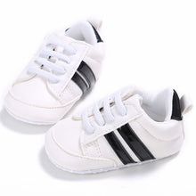 Load image into Gallery viewer, Stripe lace up sneakers - 3 COLOURS (0-18M)