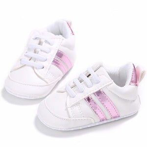 Stripe lace up sneakers - 3 COLOURS (0-18M)