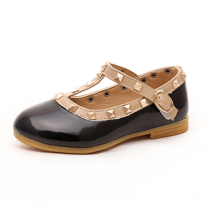 Fashion stud flats - 4 COLOURS (1-5YRS)