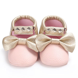 Baby bow sneakers - PINK (SIZE 0-6M)
