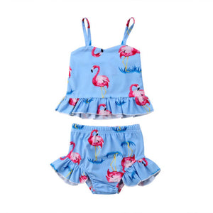 Flamingo 2pc swim suit (12M-5YR)