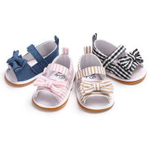 Load image into Gallery viewer, Baby summer bow sandals - 4 COLOURS (0-18M)