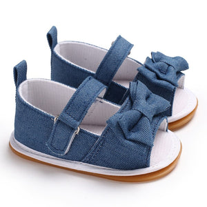 Baby summer bow sandals - 4 COLOURS (0-18M)