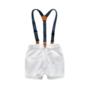 Shirt and suspender shorts