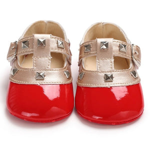 Baby stud flats - 4 COLOURS (0-18M)