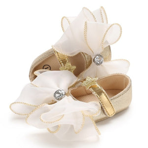 Baby bow shoes - 2 COLOURS (0-18M)