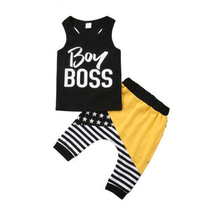 Baby Boy Boss outfit - (SIZES 6-12M & 2)