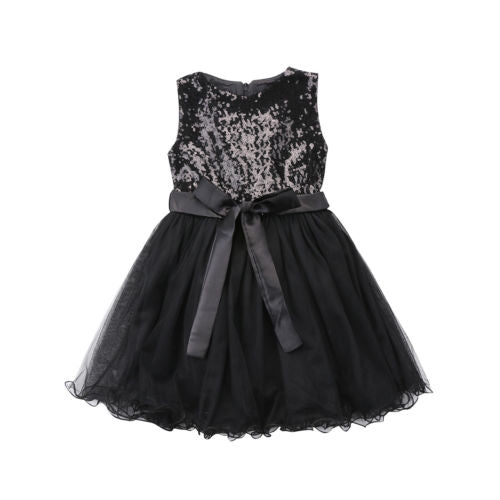 Elsa black party dress (12M-6YR)