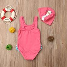 Load image into Gallery viewer, Jada swim suit & hat (12M-5YR)