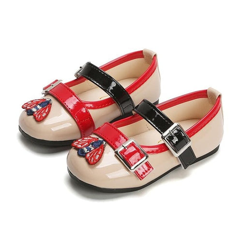Girls double buckle fashion shoes - 2 COLOURS (12M-6YR)