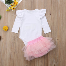 Load image into Gallery viewer, Girls birthday outfit (6M-24M)