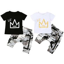Load image into Gallery viewer, Lil' King 2pc outfit - 2 COLOURS