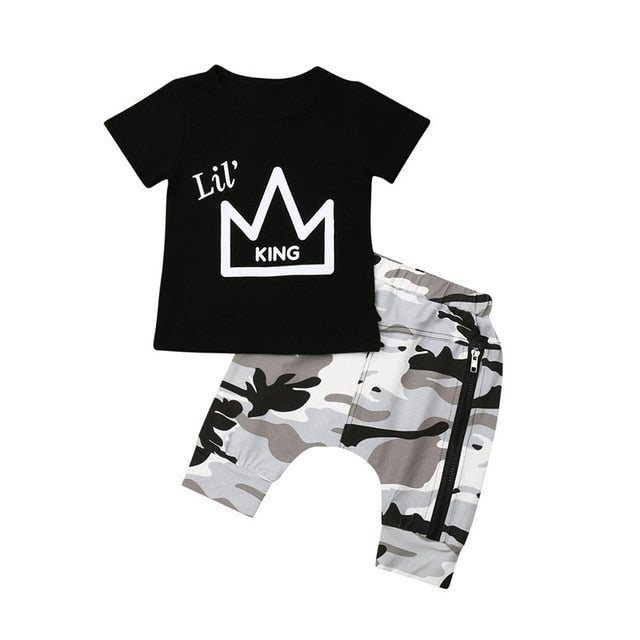 Lil' King 2pc outfit - 2 COLOURS