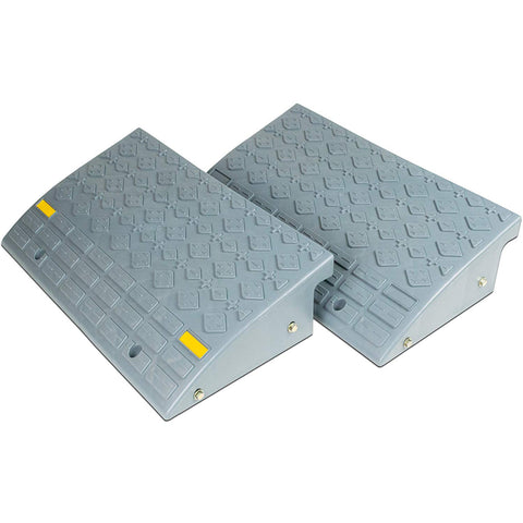 Set of Two Large (6 inch tall) Curb Ramps. Durable Multipurpose Ramp Set for your Car, Truck, Wheelchair, Cart or Handtruck.
