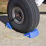 Durable Aircraft Style Wheel Chock Blocks on Rope